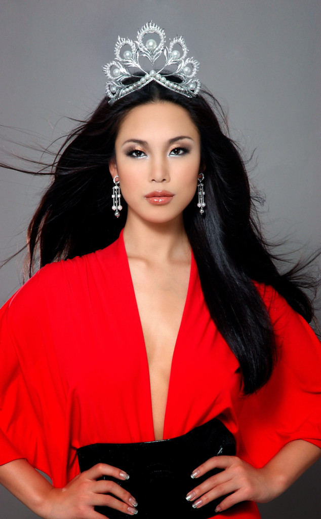 Riyo Mori, Miss Universe 2007 Hair: Laurentius Purnama M/U: Yuko Takahashi Stylist: Billie Causieestko Dress: Marc Bouwer