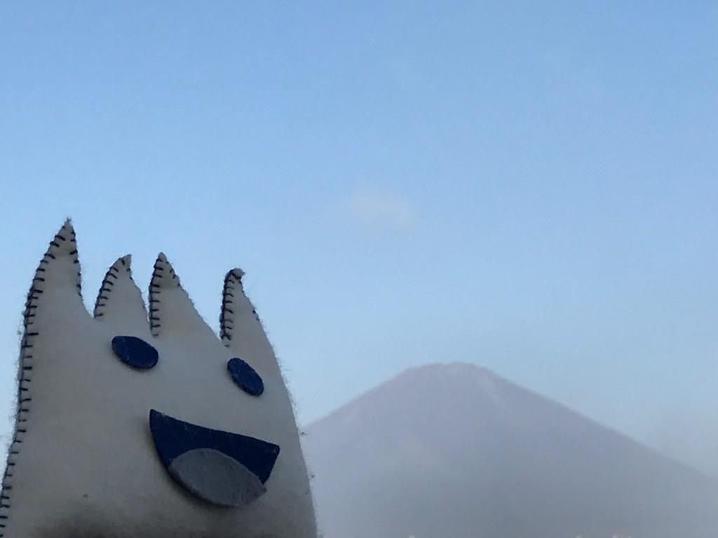 ごごまるの、今朝の富士山
